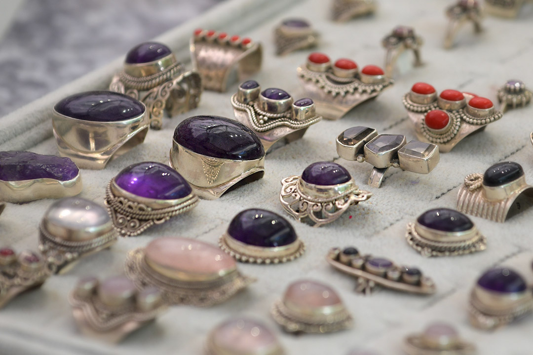 Jewellery for sale in one of our July markets