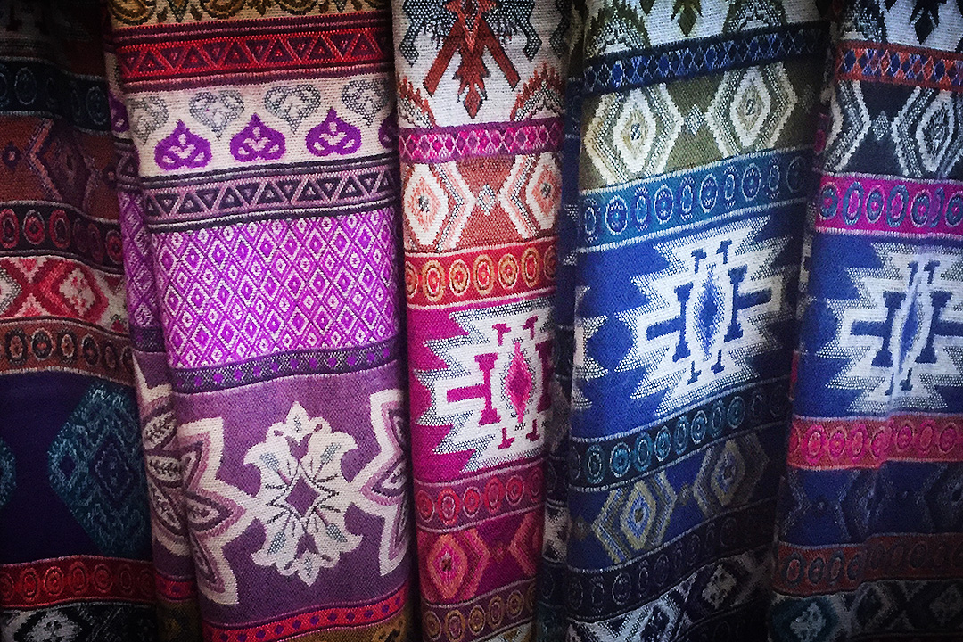 Textiles on sale in market