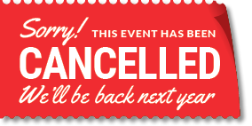 Cancelled notice -  back next year