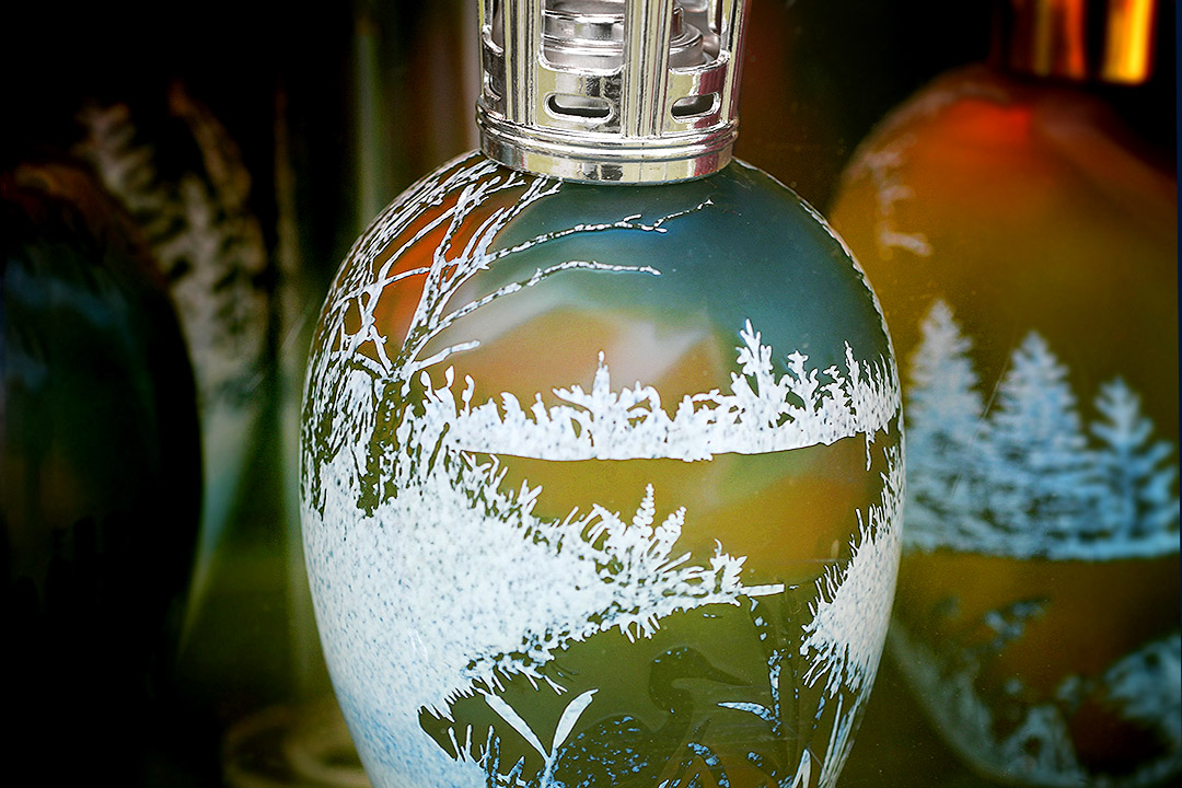 Decorative hand crafted glass bottles glassware